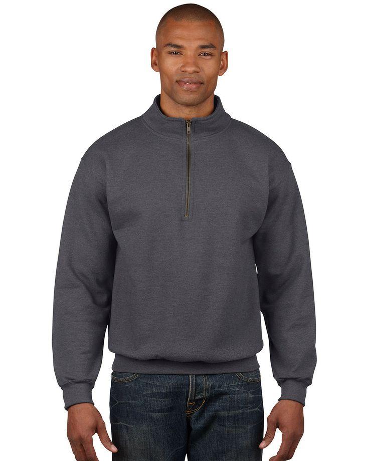 Gildan Vintage 1/4 Cadet Collar Sweatshirt 18800 from X-it Corporate