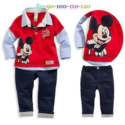 $8.84 (Buy here: https://alitems.com/g/1e8d114494ebda23ff8b16525dc3e8/?i=5&ulp=https%3A%2F%2Fwww.aliexpress.com%2Fitem%2FNew-2pcs-Baby-Kids-Boy-Infant-Long-Sleeve-Cartoon-Mouse-Turn-down-Collar-Polo-T-shirt%2F32658230721.html ) New 2pcs Baby Kids  Boy Infant Long Sleeve Minnie Cartoon Mouse Turn-down Collar Polo T-shirt Top+ Pants Outfit set Clothes 2-7Y for just $8.84