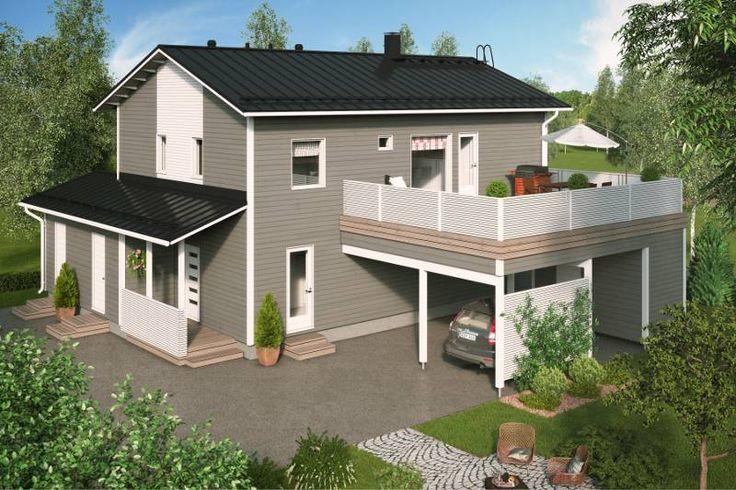 Katso Design-Talo 186 Moderni Käpylä ja yli tuhat muuta talomallia Meillä kotonan Talohausta.