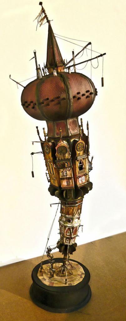 中世的ファンタジー世界。スチームパンク感溢れるジオラマ作品に好奇心をくすぐられる | ARTIST DATABASE/アーティストデータベース