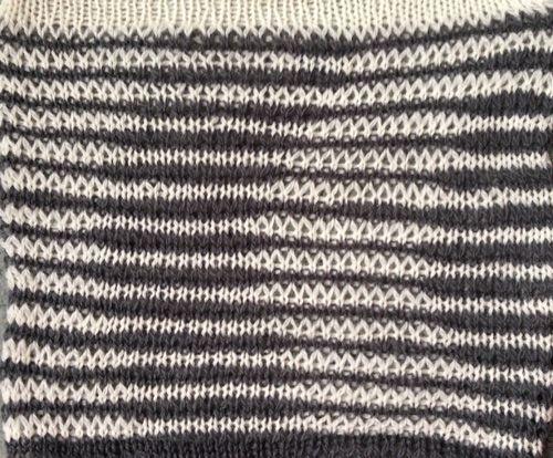 illusion knit hk pattern knit as drop stitch lace on Brother
