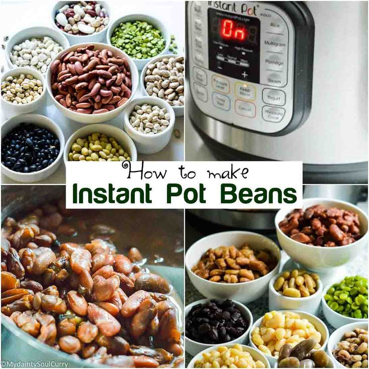 Instant pot beans how to cook cheat sheet recipe