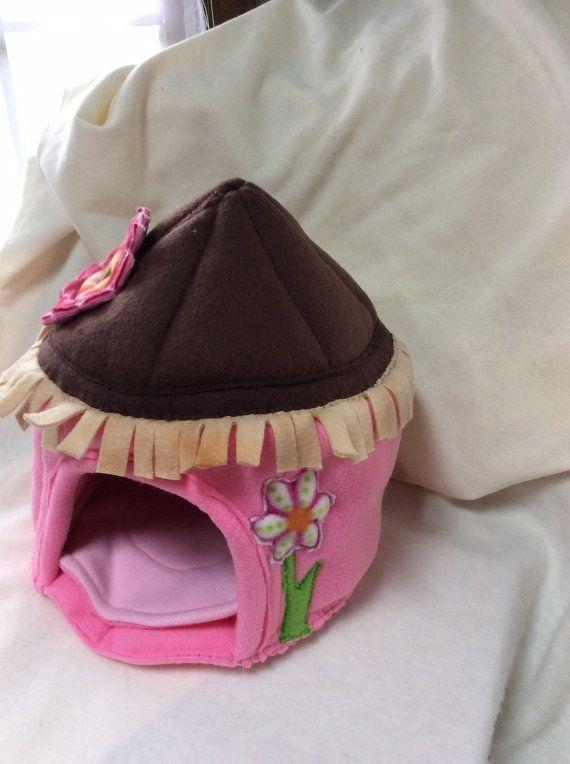 Hedgehog and Guinea Pig Beach Hut Pocket Pet by TheHomespunLoft