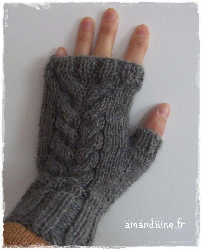 Tuto tricot gants - Comment tricoter des mitaines avec doigts ...