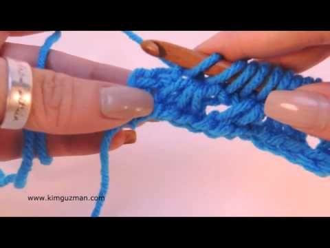 Tunisian Crochet: Simple Beginner Lace - YouTube