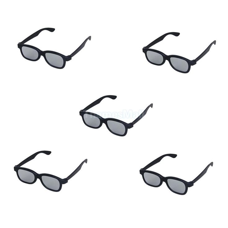 5pcs Black 3D Glasses for 3D Passive LG Panasonic Sony TVs Monitor 3D Movie Game
