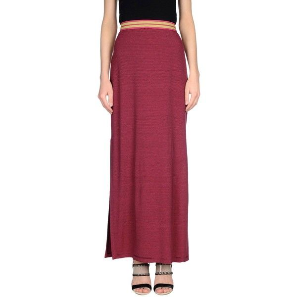 Pianurastudio Long Skirt ($134) ❤ liked on Polyvore featuring skirts, fuchsia, red stripe maxi skirt, red maxi skirt, red striped skirt, red striped maxi skirt and striped maxi skirt