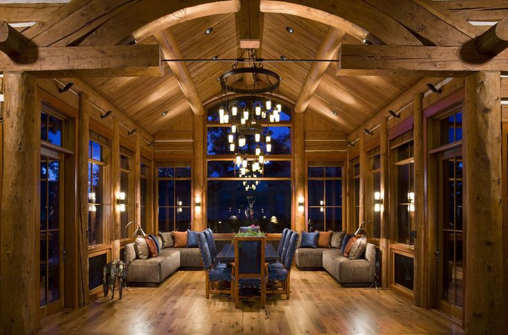 17 Best Images About Log Home Interiors On Pinterest
