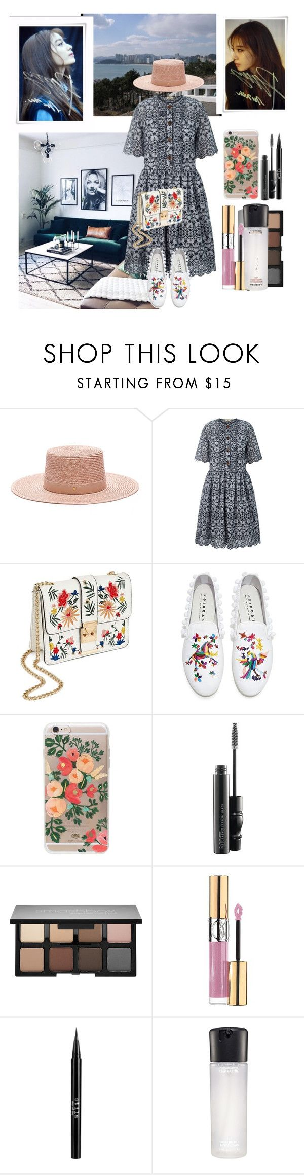 """Park Ji-yeon style"" by wolf-girl97 ❤ liked on Polyvore featuring Orla Kiely, Miss Selfridge, Joshua's, Rifle Paper Co, MAC Cosmetics, Smashbox, Yves Saint Laurent and Stila"