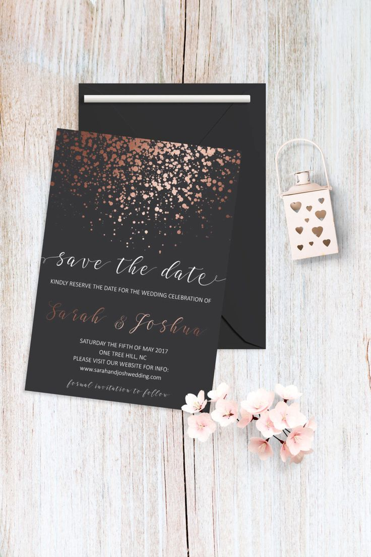cruise wedding save the date announcement%0A Save the Date Card Printable Rose Gold Save the Date Cards Copper Save the Date  Wedding