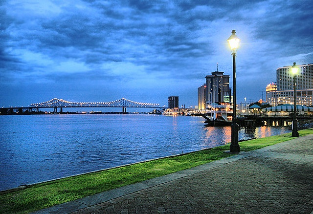 the Moon Walk along the Mississippi River in New Orleans