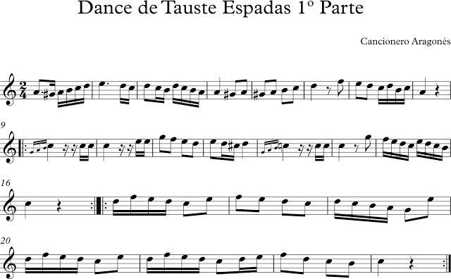 Dance de Tauste. Espadas 1º Parte. Aragon.