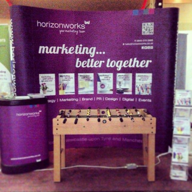 Our banner stand