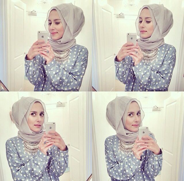 Dina Tokio rocking the pastel colours. her hijab style is beautiful!