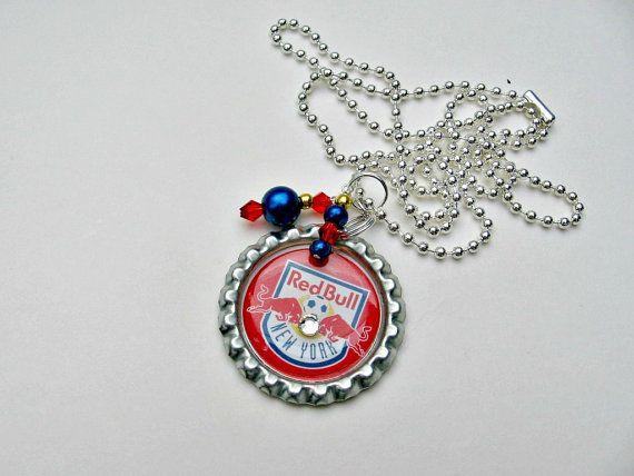 New York Red Bull Soccer Necklace NY Red Bulls New York Red