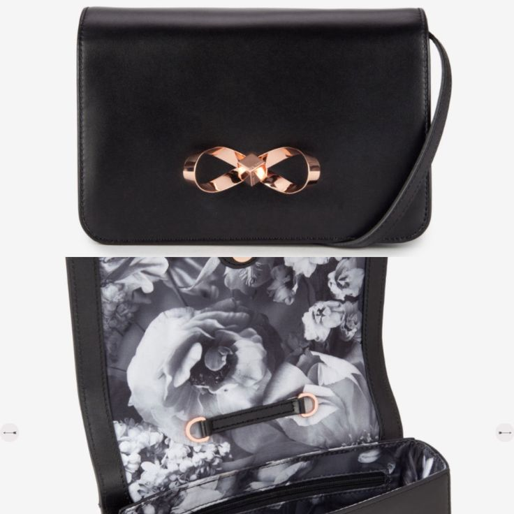 TO BUY: Ted Baker - Peona Bow Loop Leather Clutch Bag £99