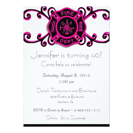 354 best zazzle invitations images on pinterest zazzle female firefighter birthday invitation stopboris Images