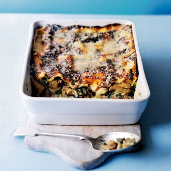 Nothing can beat a lasagne winter warmer and our wild mushroom and spinach lasagne recipe is perfect