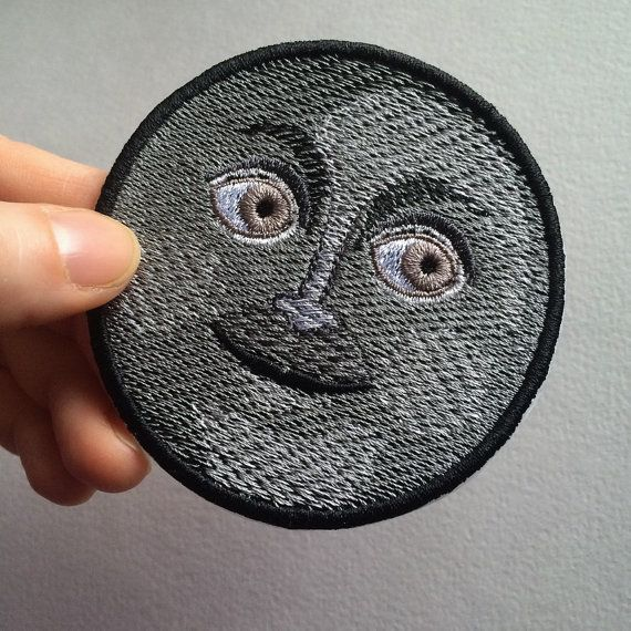 Dark Moon Face Emoji Patch, machine embroidery. ============================ READY TO SHIP IN 3-5 BUSINESS DAYS. SHIPPING FROM RUSSIA TO ANOTHER COUNTRY USUALLY TAKES ABOUT 2-5 WEEKS (SOMETIMES LESS OR MORE). While choosing a payment option, please, select PayPal. PayPay allows you to