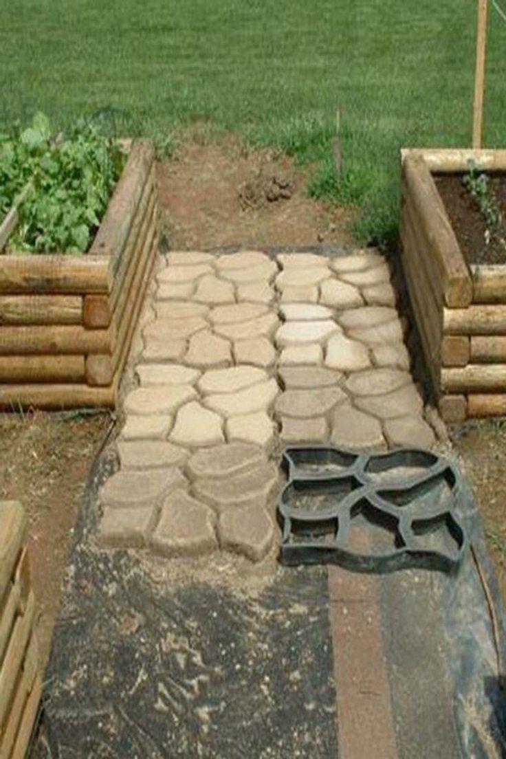Brilliant Garden Pavement Mold Diy Walk Manually Road Path Propylene Paving Cement Brick Stone Concrete Mould Garden Tools Home & Garden