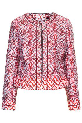 Quilted Tile Print Jacket