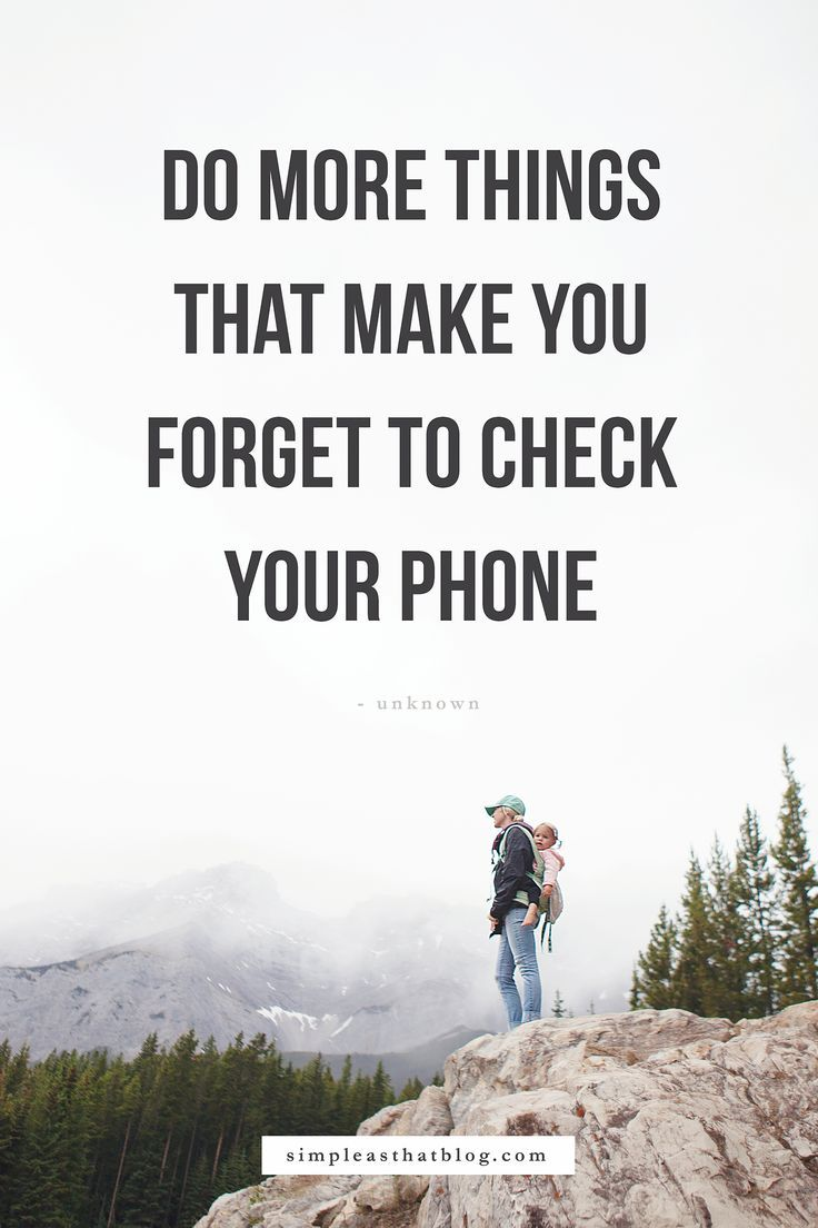 When we really think about it, we all know that we'd rather connect with the people around us than the screen in our back pocket... But that pull is real!   Read here for 5 strong reasons to forget your phone more often.