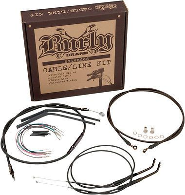 "Burly Brand Braided Ss Cable/line Kit For 15"" Ape Hanger Bar B30-1105 #motorcycle #parts #brakes #suspension #brake #lines #hoses #b301105"