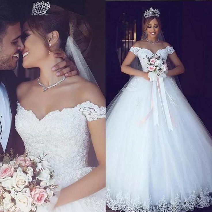 WD654 Off the Shoulder Princess Lace Wedding Dress, robe de mariee 2018