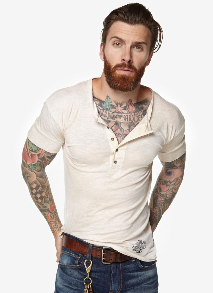 Levi Stocke - Sheehan & Co. Vintage Revival Drop Shoulder Henley - in style mens clothing, mens clothing uk, cheap mens clothing online