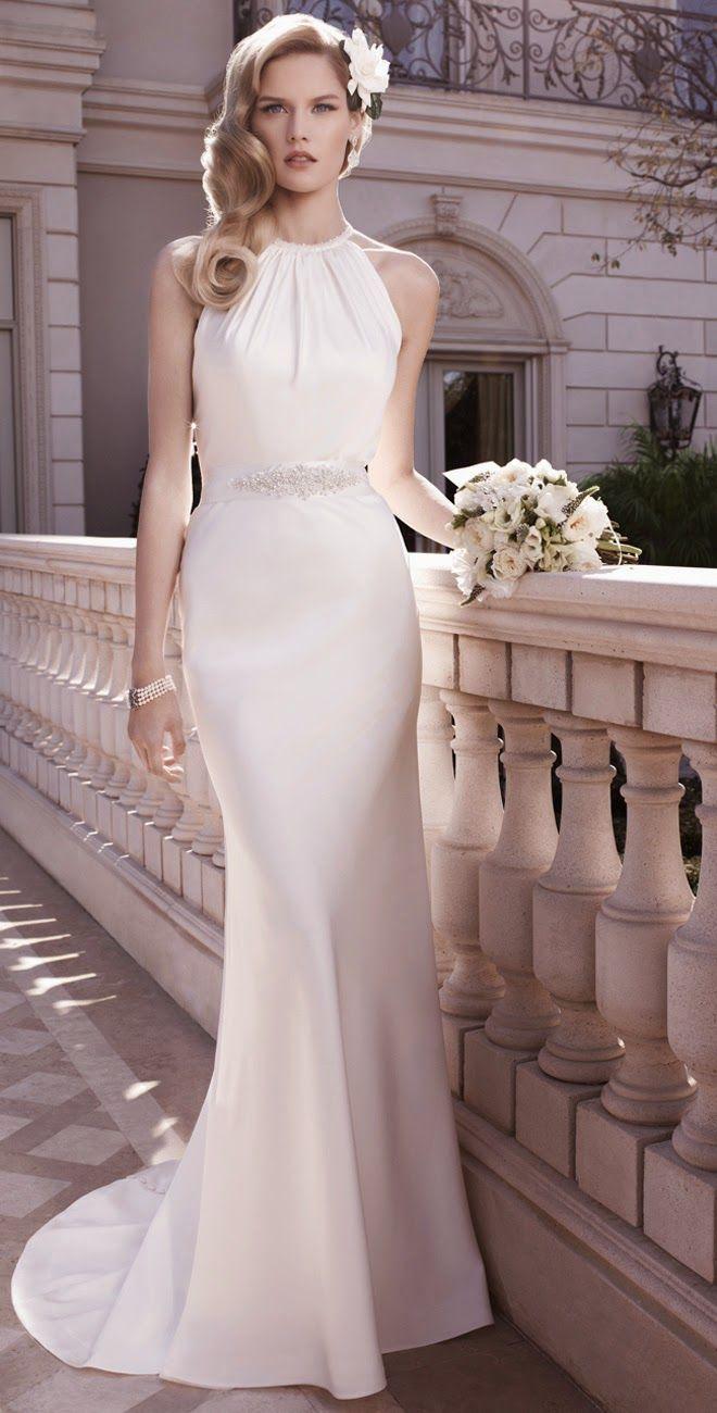 Vestidos novia boda civil largos