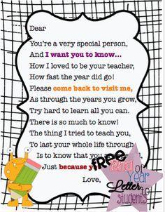 preschool farewell letter - Google Search