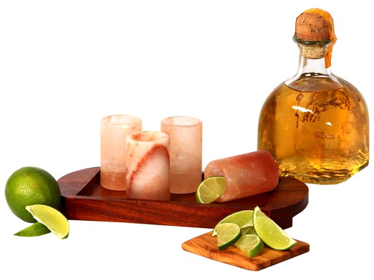 Himalayan Salt Shot Glass & Tray Set by The Spice Lab | Dining | AHAlife.com
