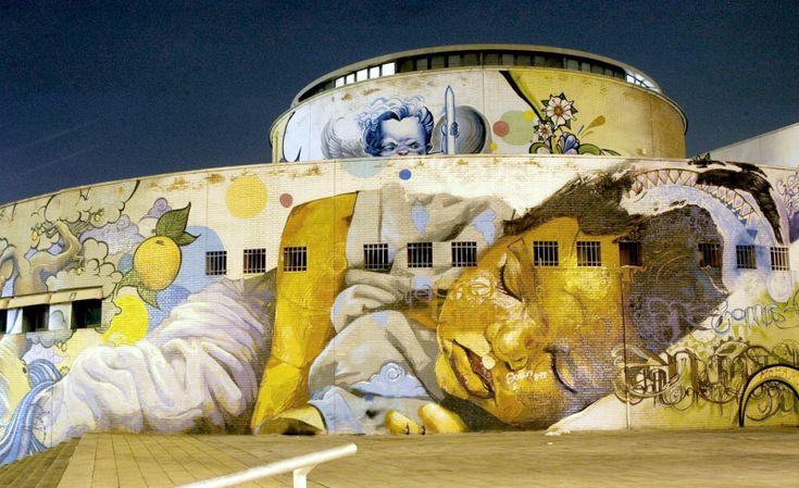 El artista Raúl Ruiz, 'El niño de las pinturas', protagonista de la II intervención en el paisaje del Proyecto CREAMOS - Estación Plaza de Armas, Sevilla