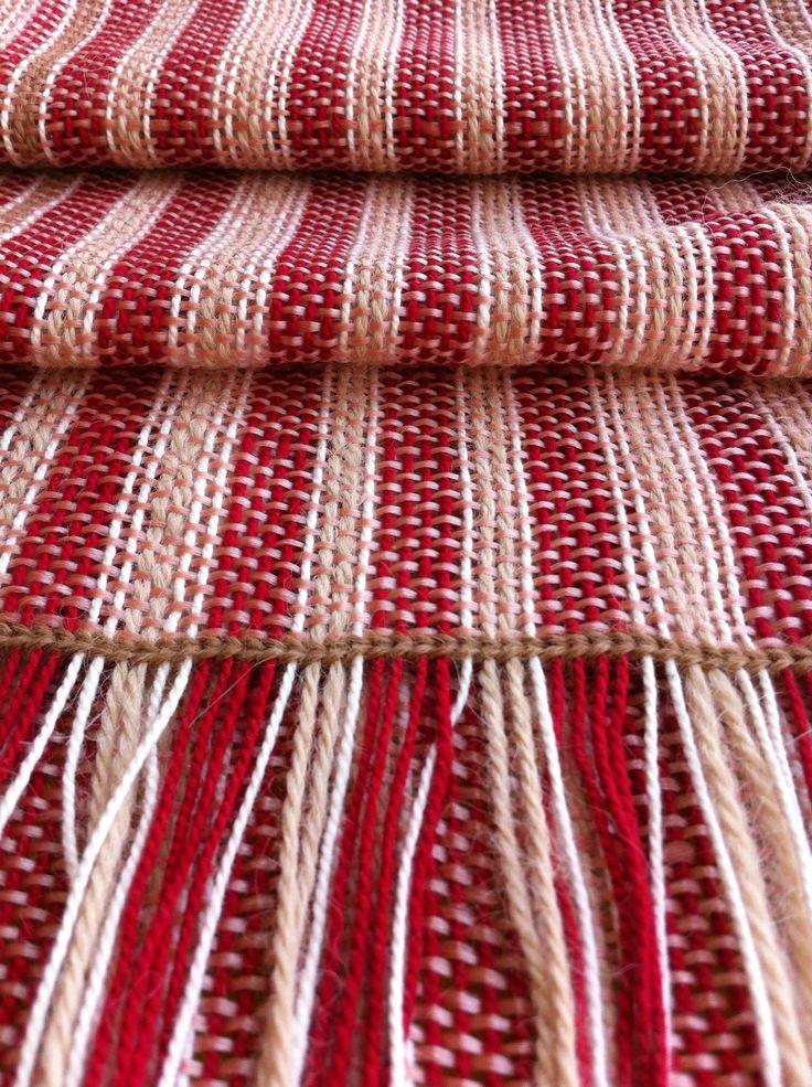 Bufandas de Cobre + Algodón Chileno + Lana de Alpaca Natural.  Tejido en Telar Precolombino