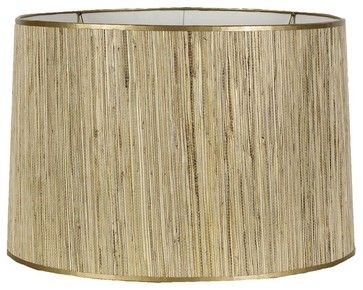 "15"" Gold Grasscloth New Drum Shade  lamp shades"