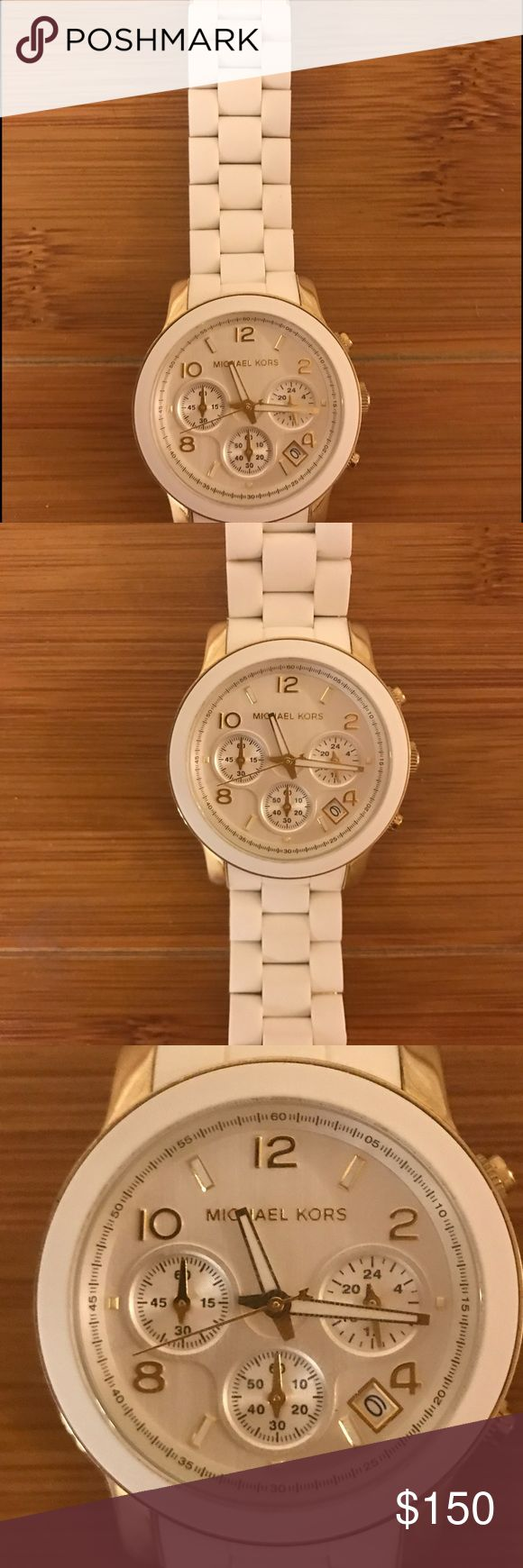 White Michael Kors watch Watch was barely used Accessories Watches