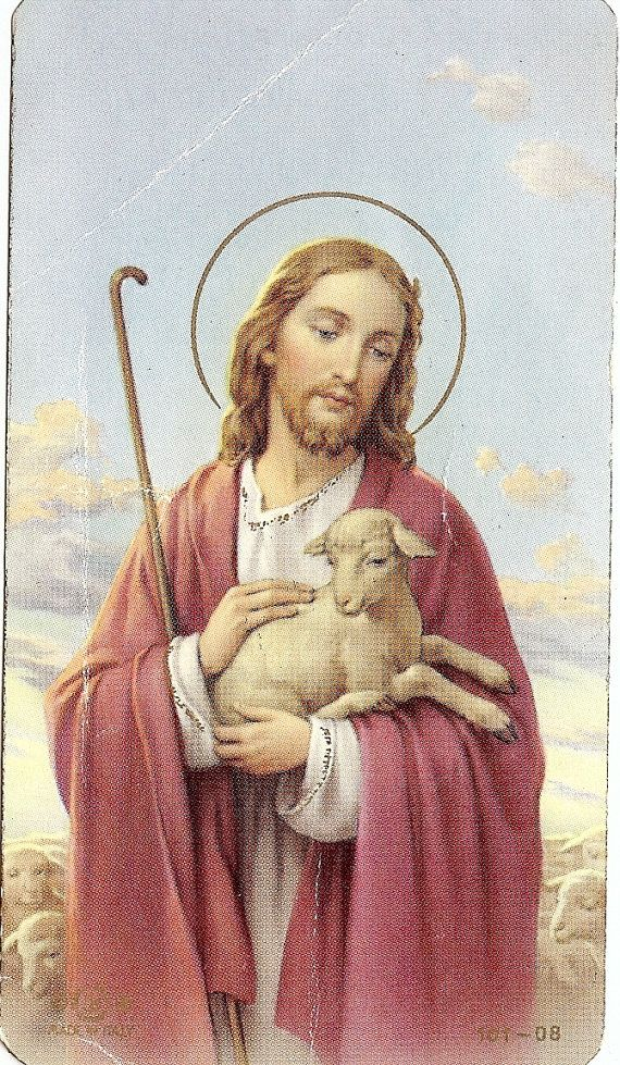 Vintage Prayer Card Catholic  Christ Jesus The by ChristmasAngels, $5.00
