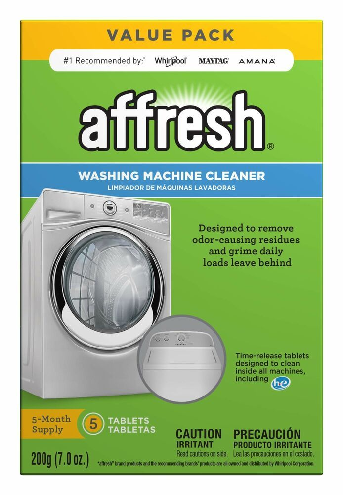Finally Fresh Washer Machine Cleaner 5 Tablets White 5 Count New