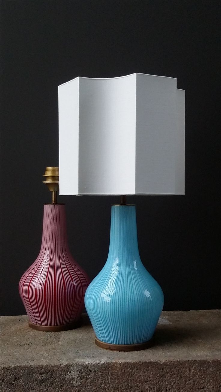 Vintage table lamps, Venini Italy, 1968
