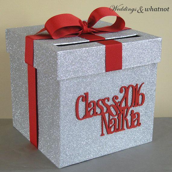 Graduation Card Box 9 w x 9 h-Choose your by WeddingsAndWhatnot