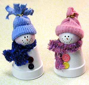 Mini Clay Pot Crafts | Clay Pot Snowmen Created by Amanda Formaro This darling snowman and ...