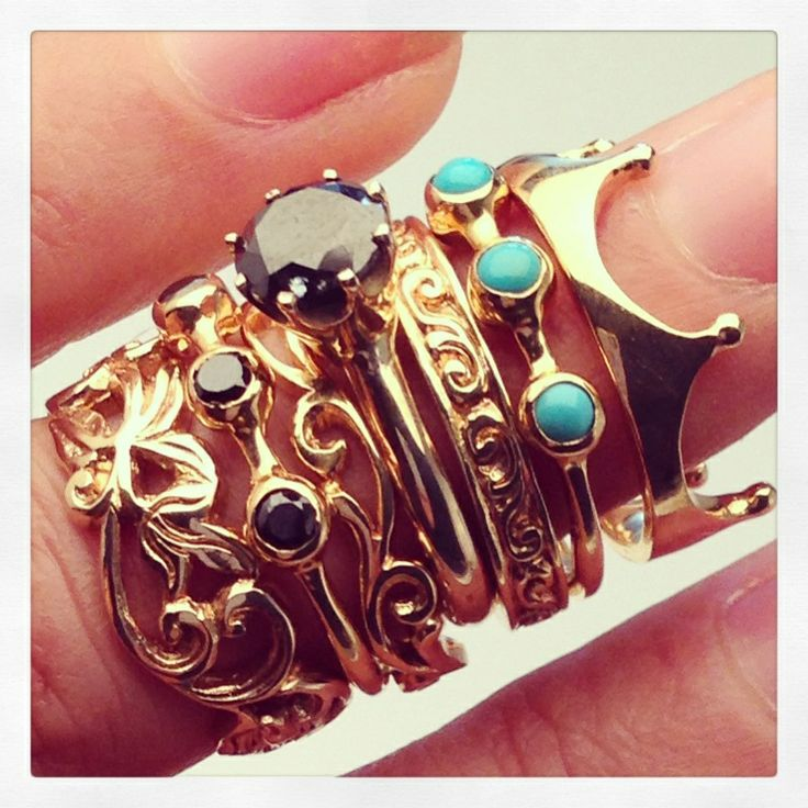 Black Diamond- Turquoise Stack Gold