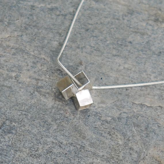 Cubes necklace made by Wildaria