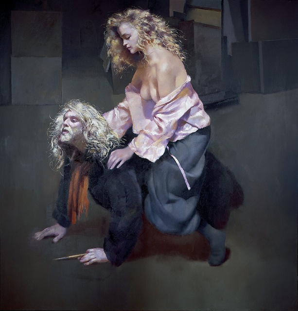 rol18_055_The Painter with Lisa Stokes. 1991 by The Lenkiewicz Foundation, via Flickr