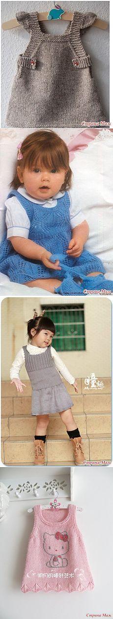 Подборочка сарафанов для девочек спицами - Вязание для детей - Страна Мам