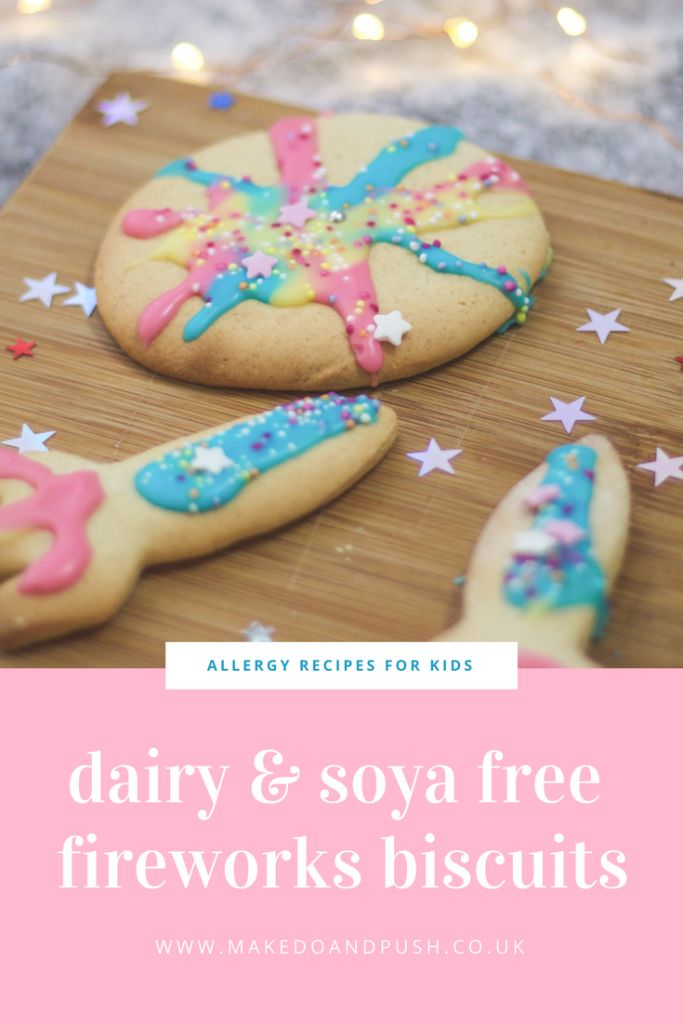 Recipe // Dairy and Soya Free Fireworks Biscuits
