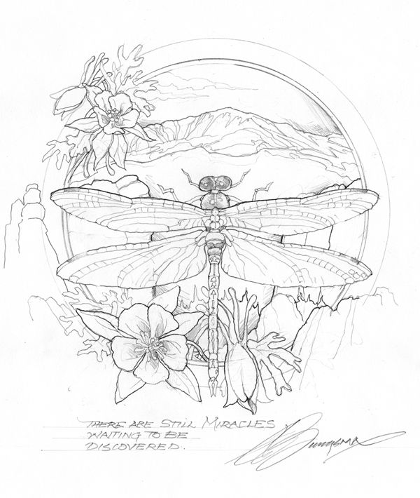 Bergsma Gallery Press :: Paintings :: Originals :: Original Sketches :: 2011/ Journey to Paradise - Original Sketch