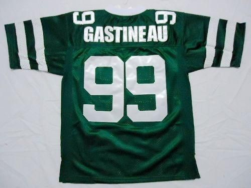 Mitchell And Ness Jets #99 Mark Gastineau Green Embroidered Throwback NFL Jersey! Only $21.50USD