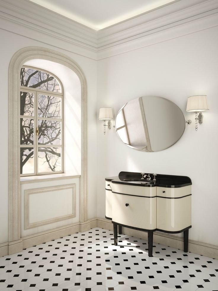 Deco lacquered single vanity unit MUSIC | Vanity unit - Devon&Devon