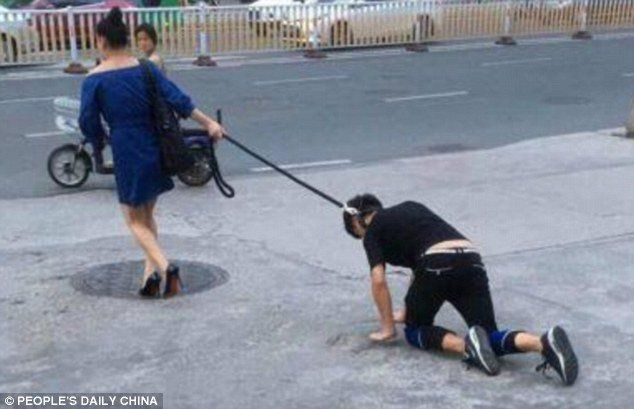 Garry Meier (@GarryMeierShow) | Twitter  -  A woman stopped traffic walking a man on a leash. But don't worry, the man thinks he's a #dog! 🐾 #Woof #Episode77 http://po.st/UCfupO